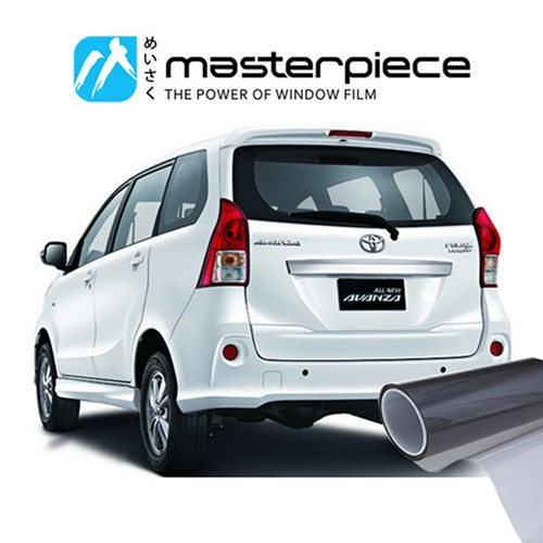 KACA FILM MASTERPIECE BLACK SHINJU - (MEDIUM CAR) KACA SAMPING BELAKANG
