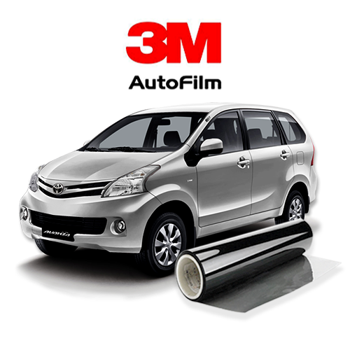 KACA FILM 3M KOMBINASI CRYSTALLINE + BLACK BEAUTY (MEDIUM CAR) FULL KACA