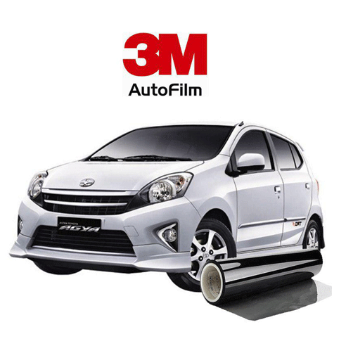 KACA FILM 3M KOMBINASI CRYSTALLINE + BLACK BEAUTY - (SMALL CAR) FULL KACA
