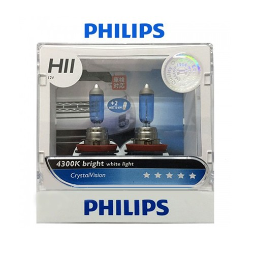PHILIPS CRYSTALVISION H11 (4300K) - LAMPU HALOGEN