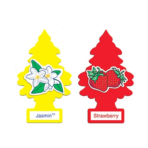 PAKET LITTLE TREES (AROMA JASMINE & STRAWBERRY) - PENGHARUM MOBIL