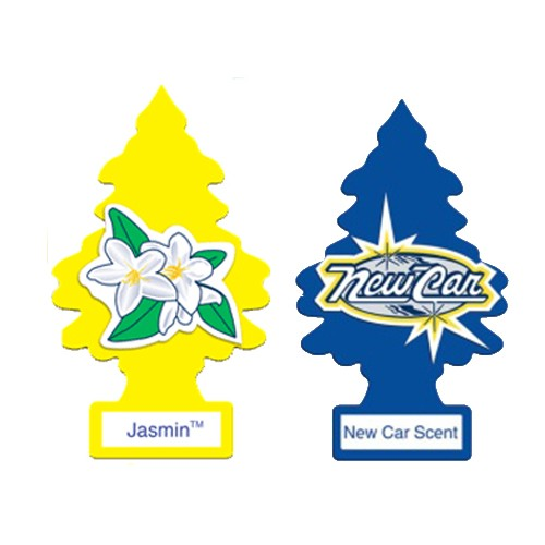 PAKET LITTLE TREES (JASMINE & NEW CAR SCENTS) - PENGHARUM MOBIL