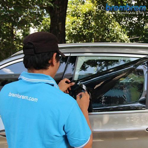 KACA FILM MASTERPIECE BLACK SHINJU - (MEDIUM CAR) KACA SAMPING BELAKANG