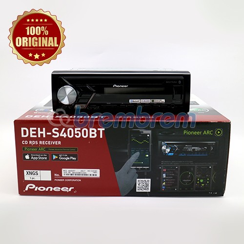 PIONEER DEH S4050BT - HEADUNIT SINGLE DIN
