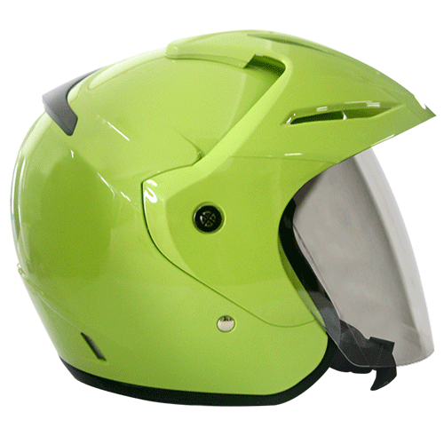 EROE (Lime Green) - Solid - Half Face Helmet