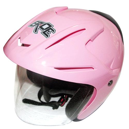 EROE (Pink pastel) - Solid - Half Face Helmet