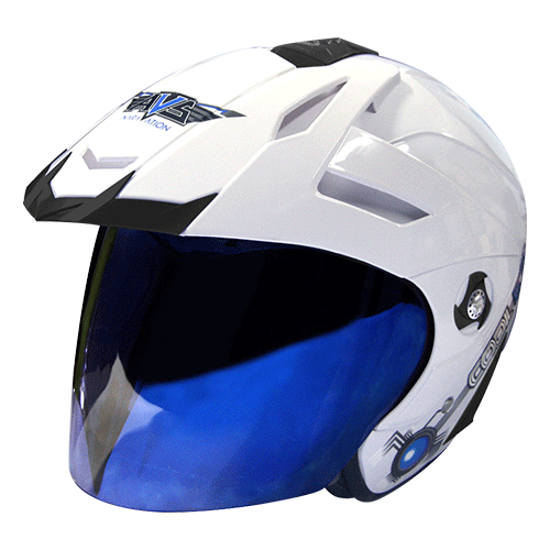 AVS Naravation Cool Ice (Alpine White) - HELM DINGIN - Half Face Helmet