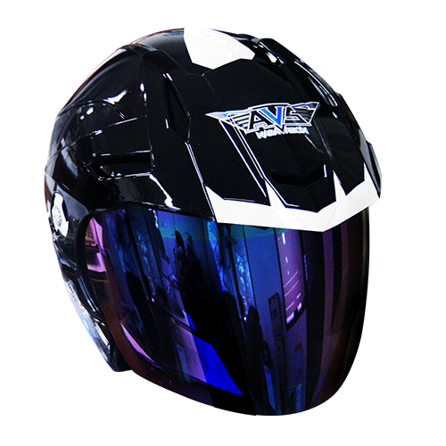 AVS Naravation Cool Ice (Jet Black) - HELM DINGIN - Half Face Helmet