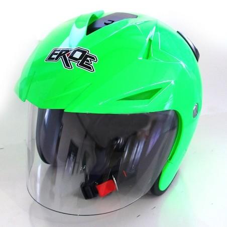 EROE R (Green Flourescent) - Solid - Half Face Helmet