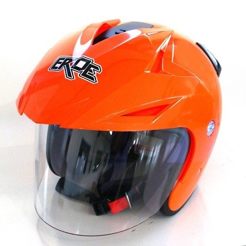 EROE R (Orange Flourescent) - Solid - Half Face Helmet