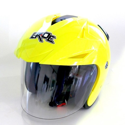 EROE R (Yellow Flourescent) - Solid - Half Face Helmet
