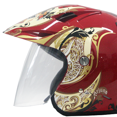 EROE R (Arjuna Gold) - Full Graphic - Half Face Helmet