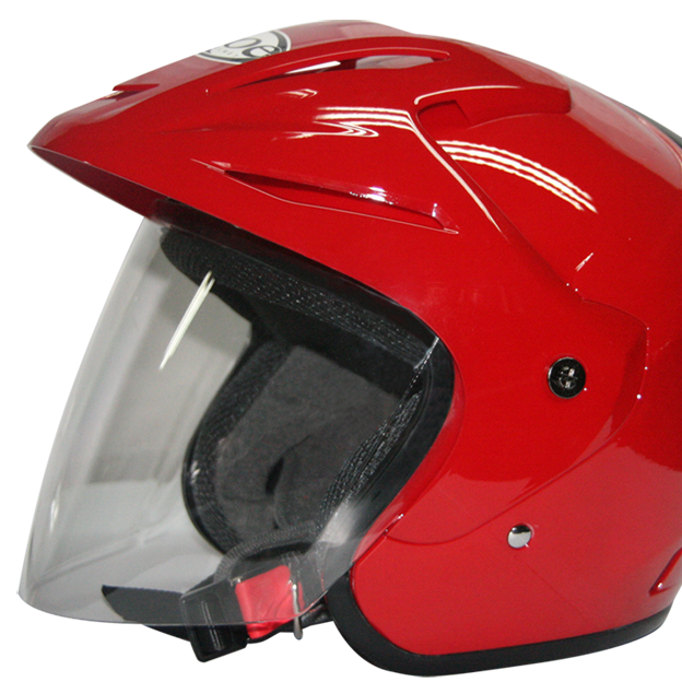 EROE (Royal Red) - Solid - Half Face Helmet
