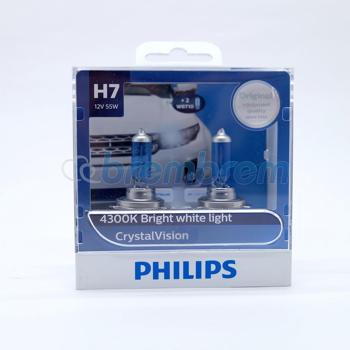 PHILIPS CRYSTALVISION H7 (4300K) - LAMPU HALOGEN