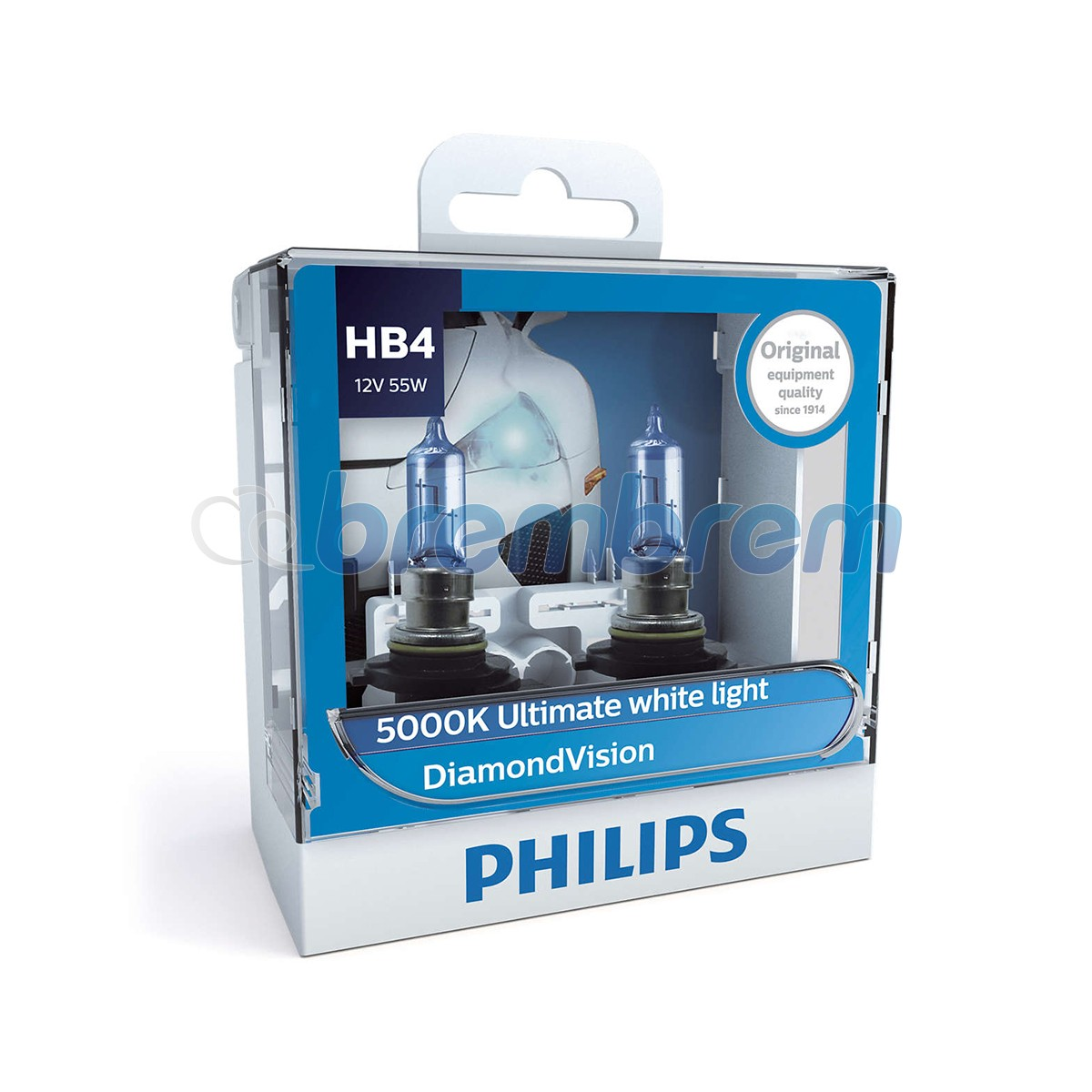 PHILIPS DIAMONDVISION 5000K - HB4 - LAMPU HALOGEN