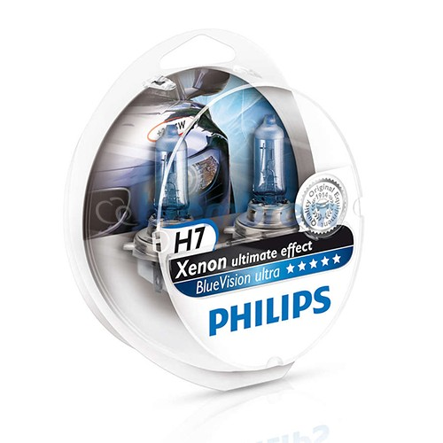 PHILIPS BLUE VISION ULTRA H7 (4000K) - LAMPU HALOGEN
