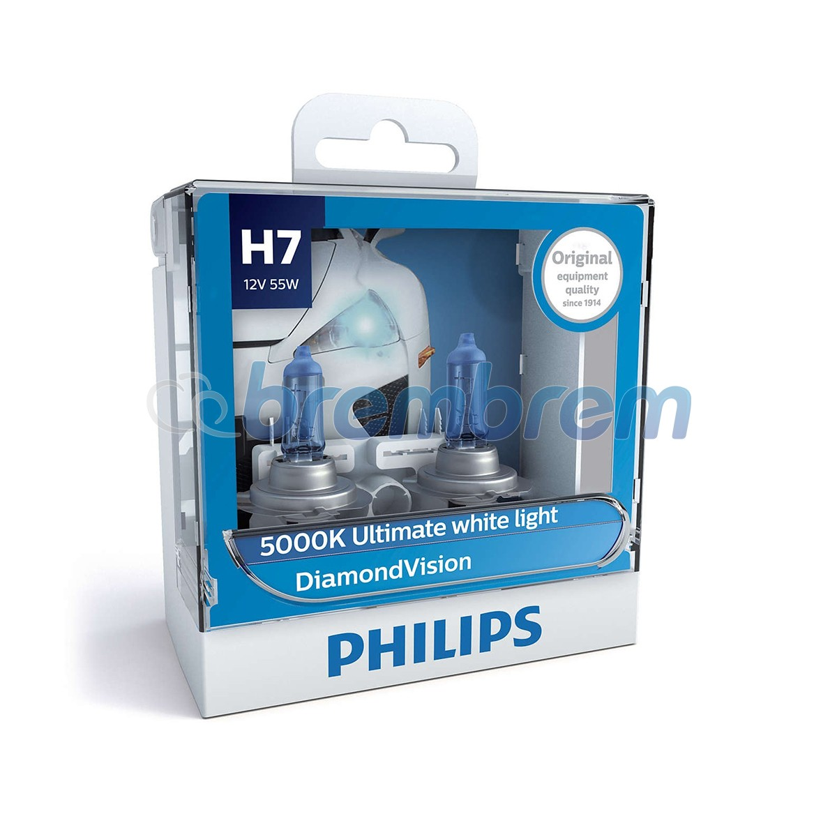 PHILIPS DIAMONDVISION H7 (5000K) - LAMPU HALOGEN