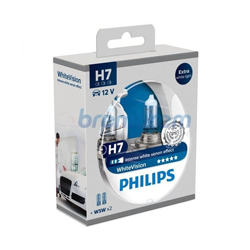 PHILIPS WHITEVISION H7 (4100K) - LAMPU HALOGEN