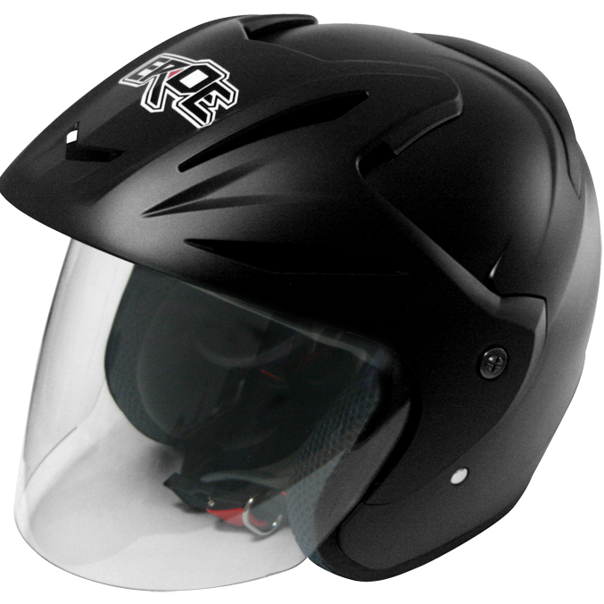 EROE (Frozen Black) - Solid - Half Face Helmet
