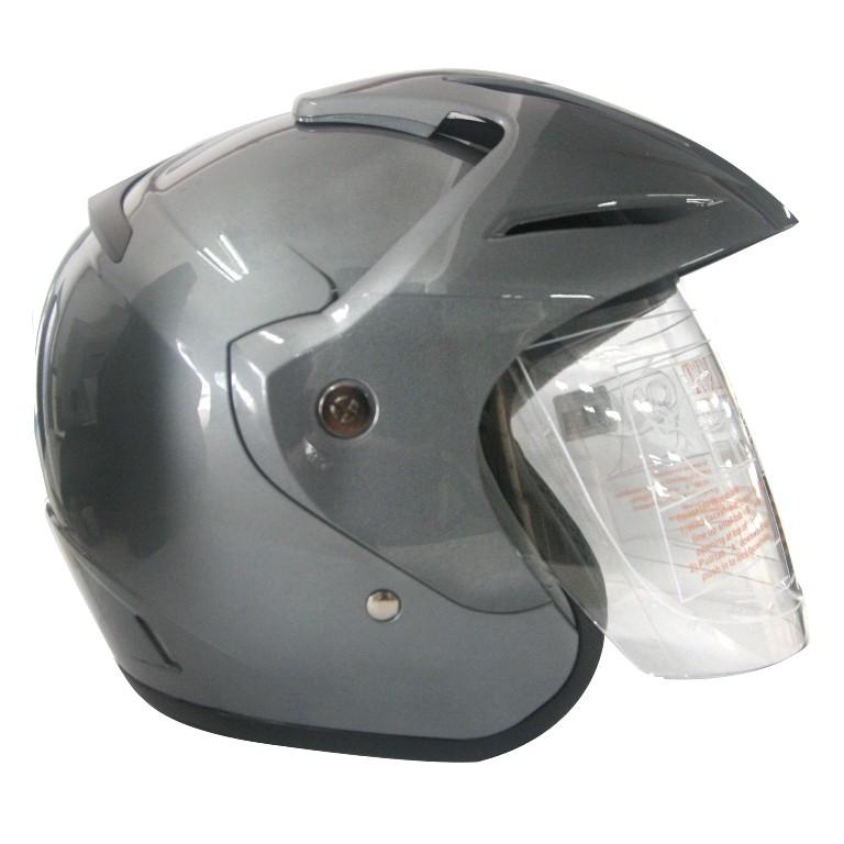EROE (Smoke Silver) - Solid - Half Face Helmet