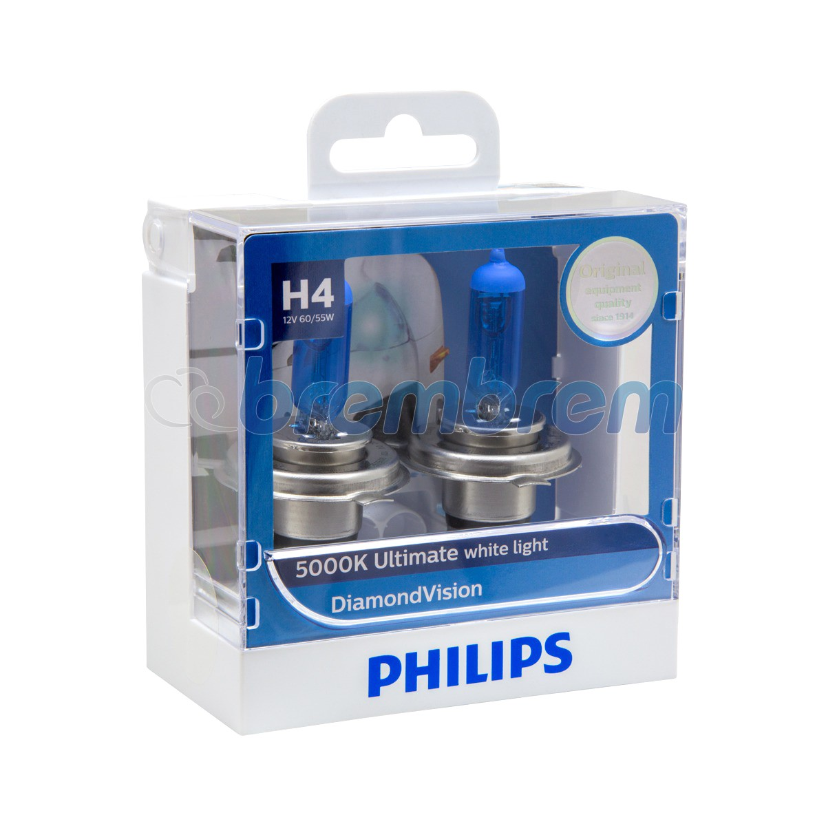 PHILIPS DIAMOND VISION H4 (5000K) - LAMPU HALOGEN