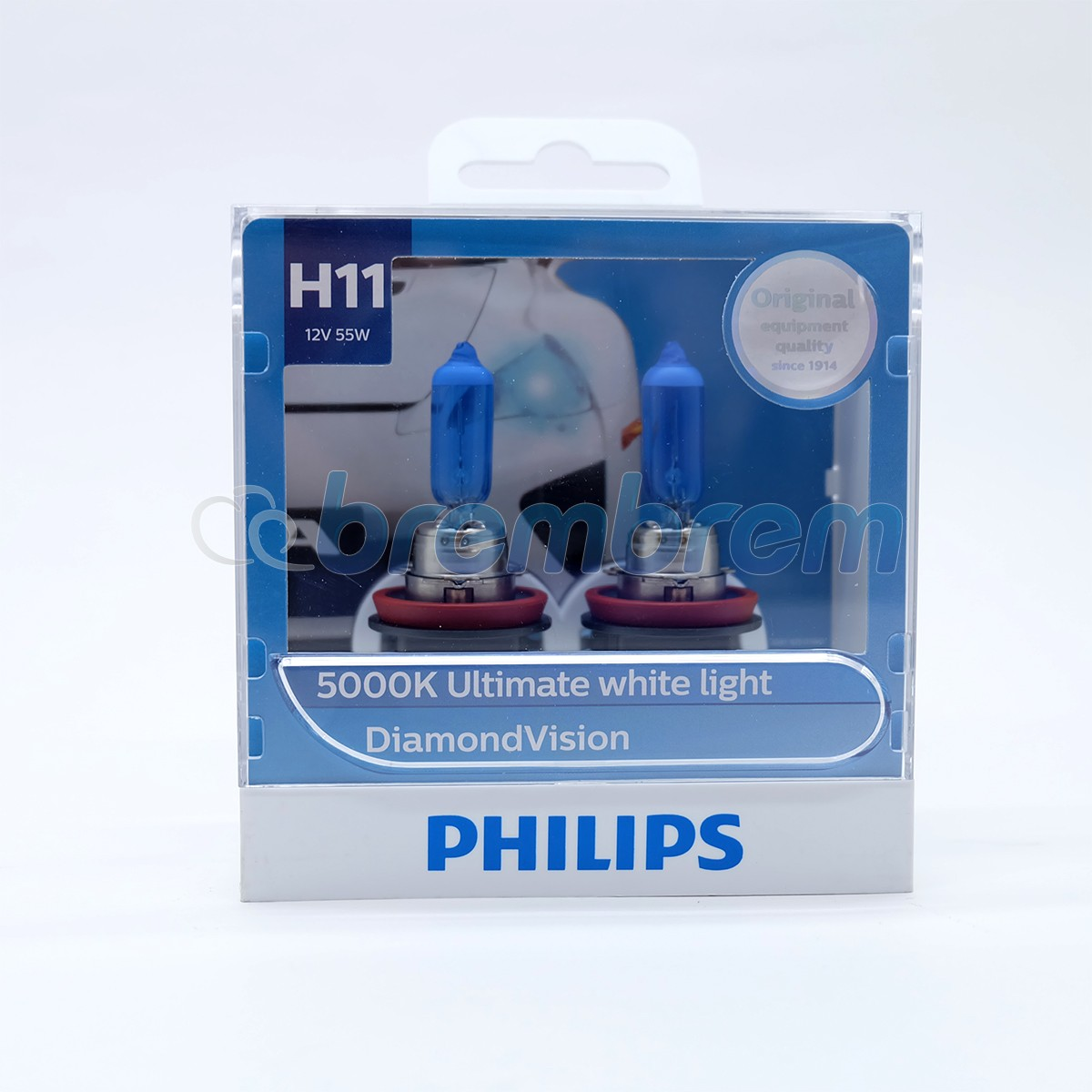 PHILIPS DIAMOND VISION H11 (5000K) - LAMPU HALOGEN