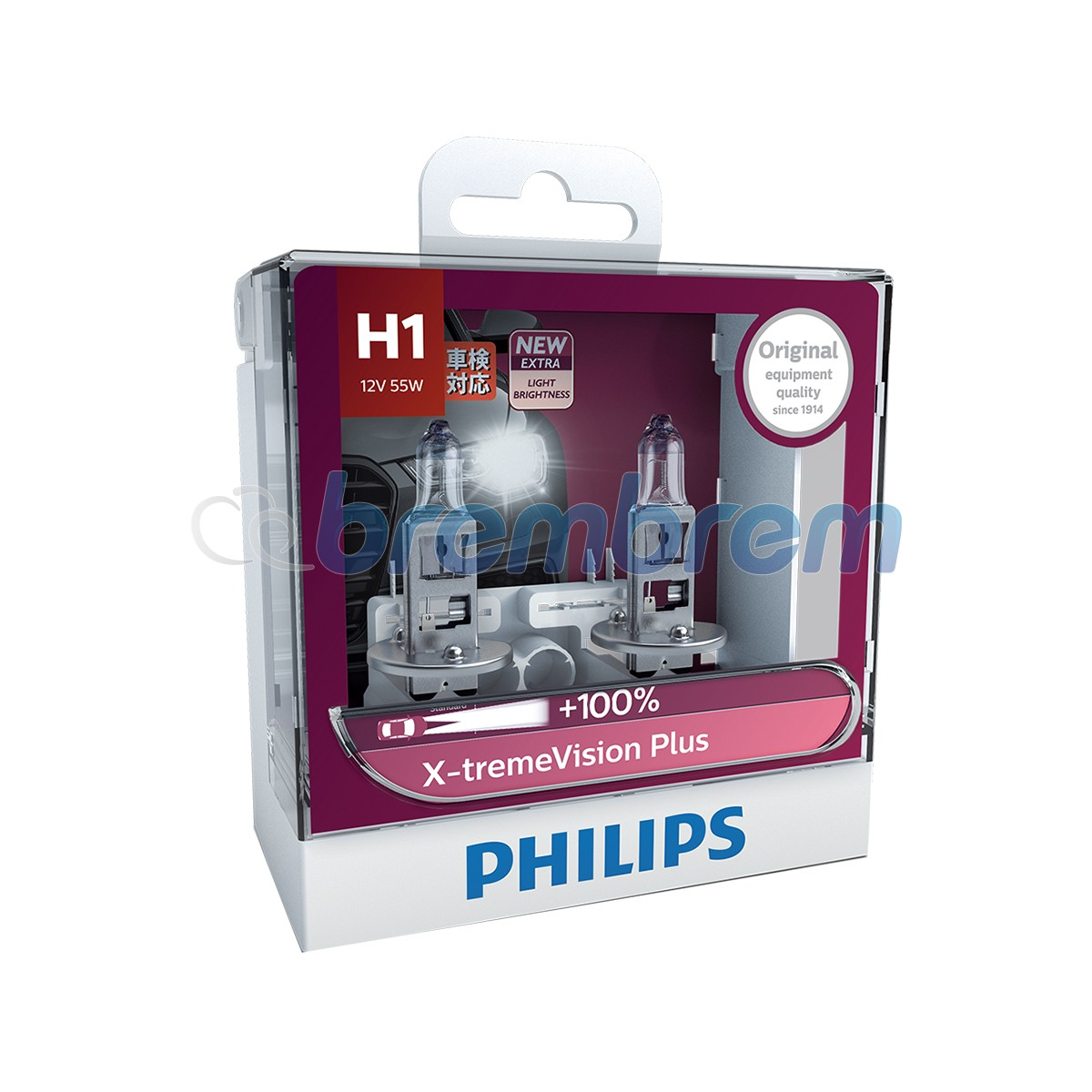PHILIPS XTREMEVISION H1 (3350K) - LAMPU HALOGEN
