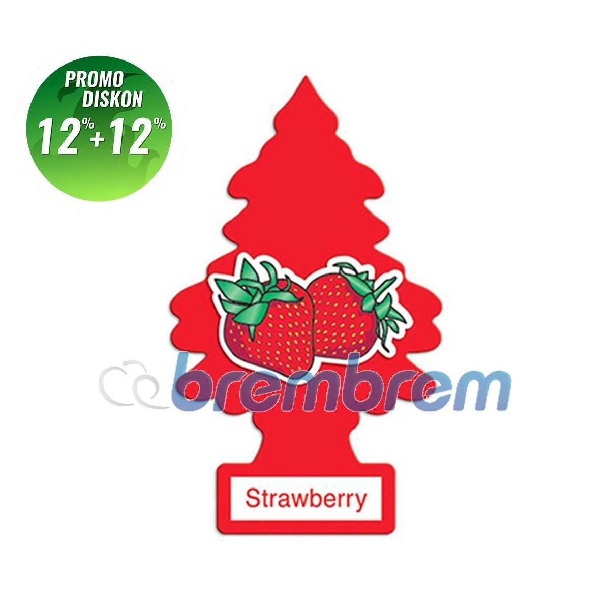 PROMO POTONGAN 12%+12% | LITTLE TREES STRAWBERRY - PENGHARUM MOBIL