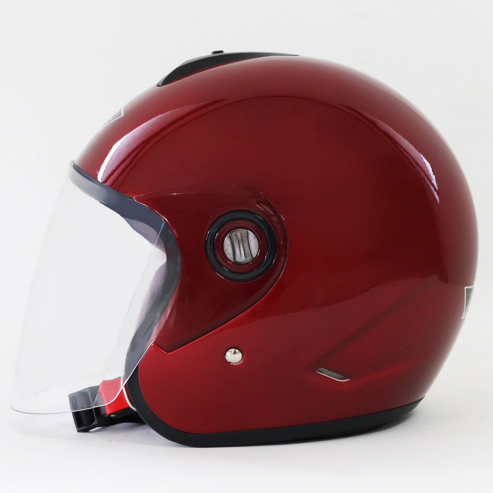 AVS Retro (Red Maroon) - Solid - Half Face Helmet