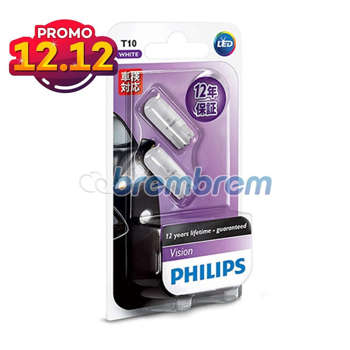 PROMO SERBA 12.12 | PHILIPS VISION T10 (6000K) - LAMPU LED SENJA