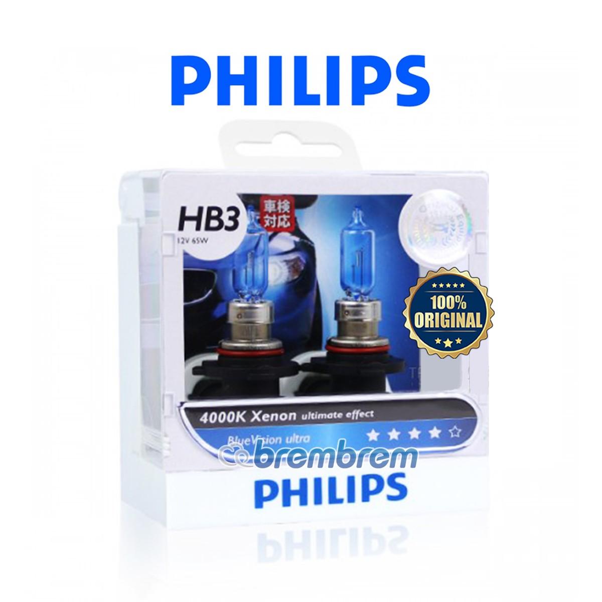 PHILIPS BLUE VISION ULTRA HB3 (4000K) - LAMPU HALOGEN
