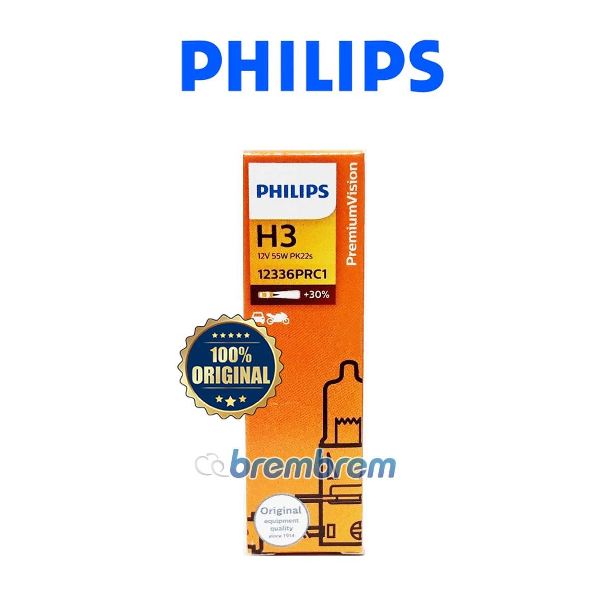 PHILIPS PREMIUM VISION H3 - LAMPU HALOGEN
