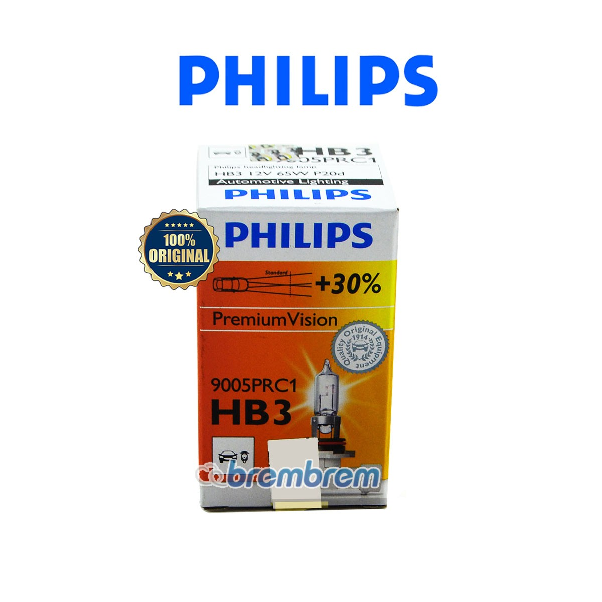 PHILIPS PREMIUM VISION HB3 - LAMPU HALOGEN