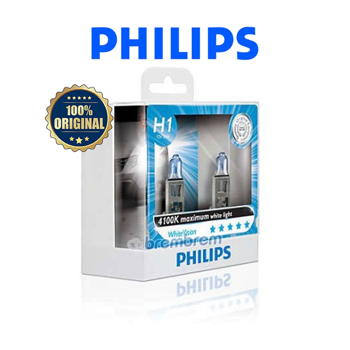 PHILIPS WHITE VISION H1 (4100K) - LAMPU HALOGEN