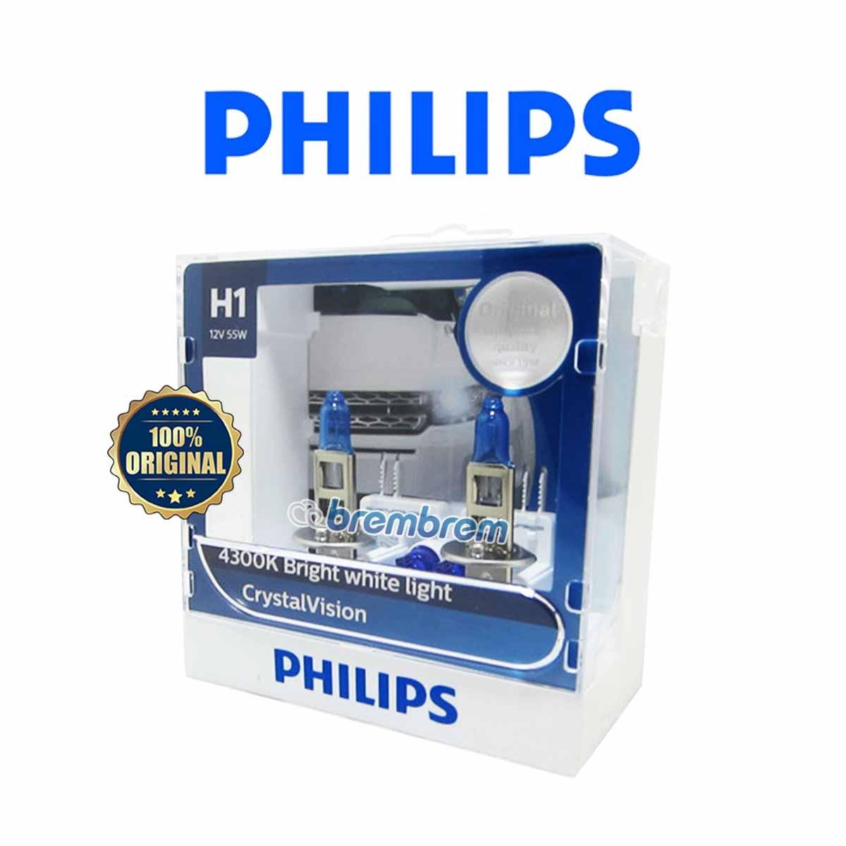 PHILIPS CRYSTAL VISION H1 (4300K) - LAMPU HALOGEN