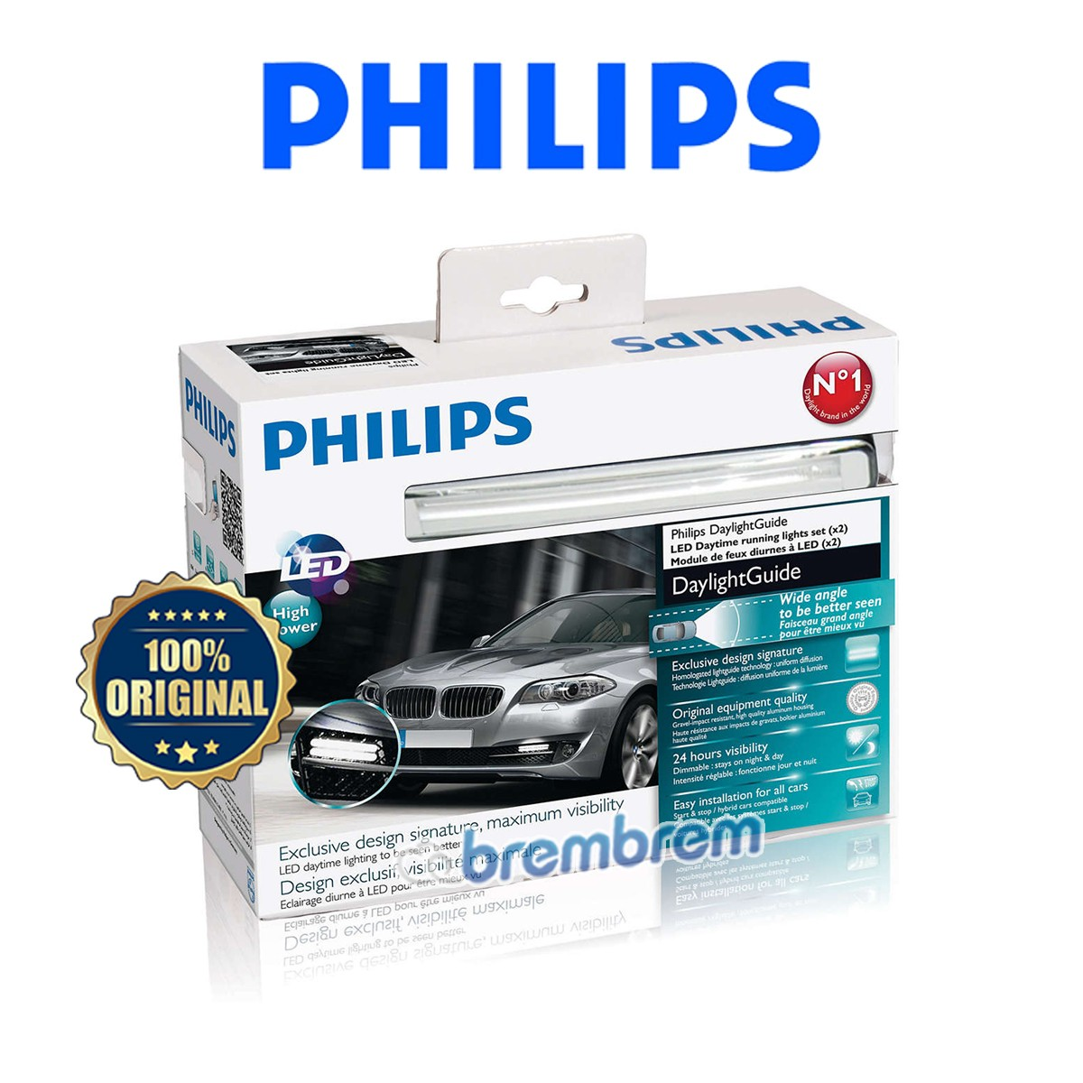 PHILIPS DAY LIGHT GUIDE WLED 12V - LAMPU LED MOBIL