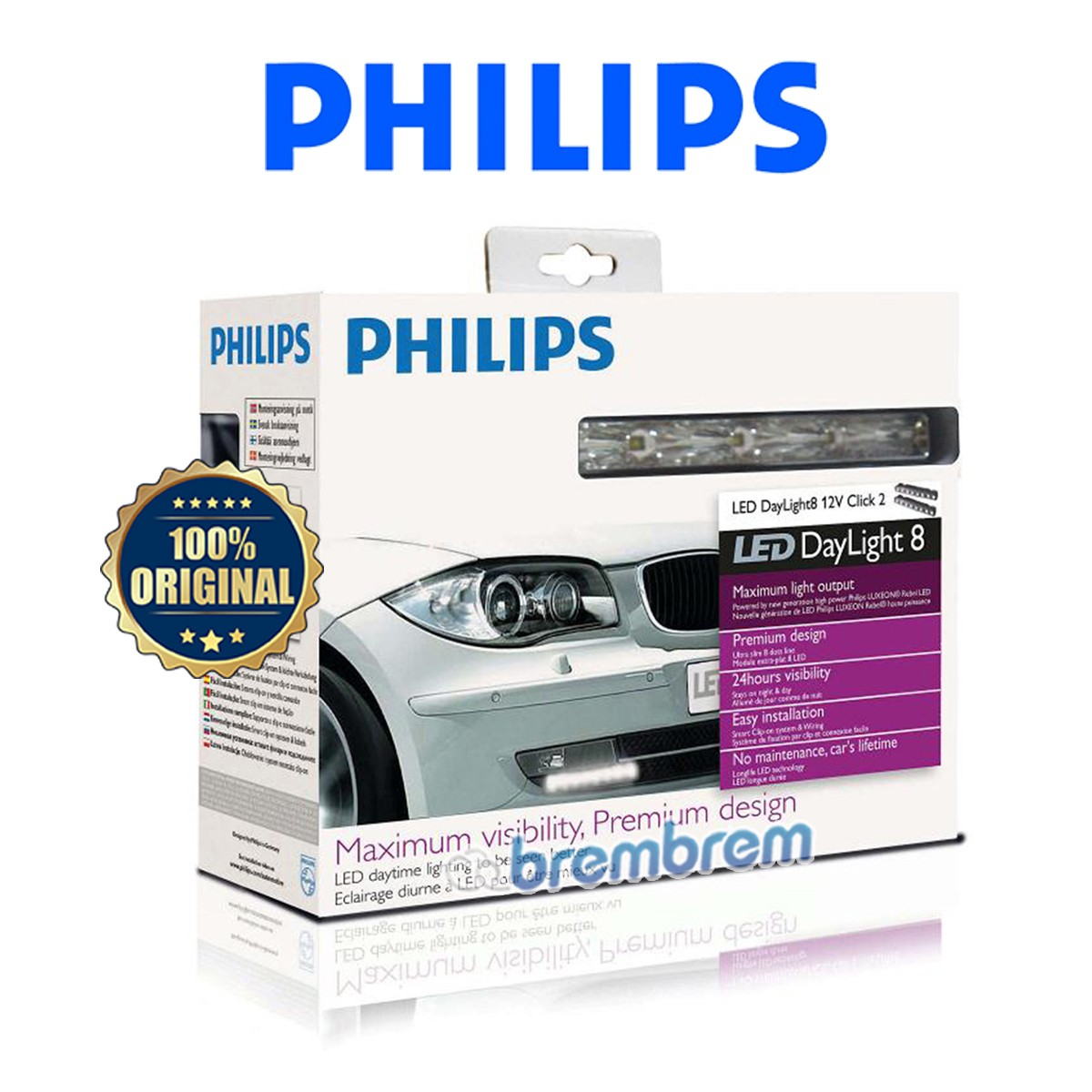 PHILIPS DAY LIGHT 8 WLED - LAMPU LED MOBIL