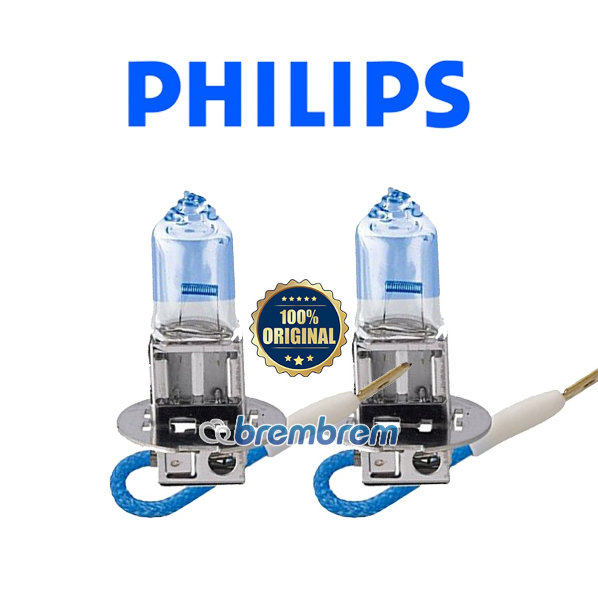 PHILIPS WHITE VISION H3 (4100K) - LAMPU HALOGEN