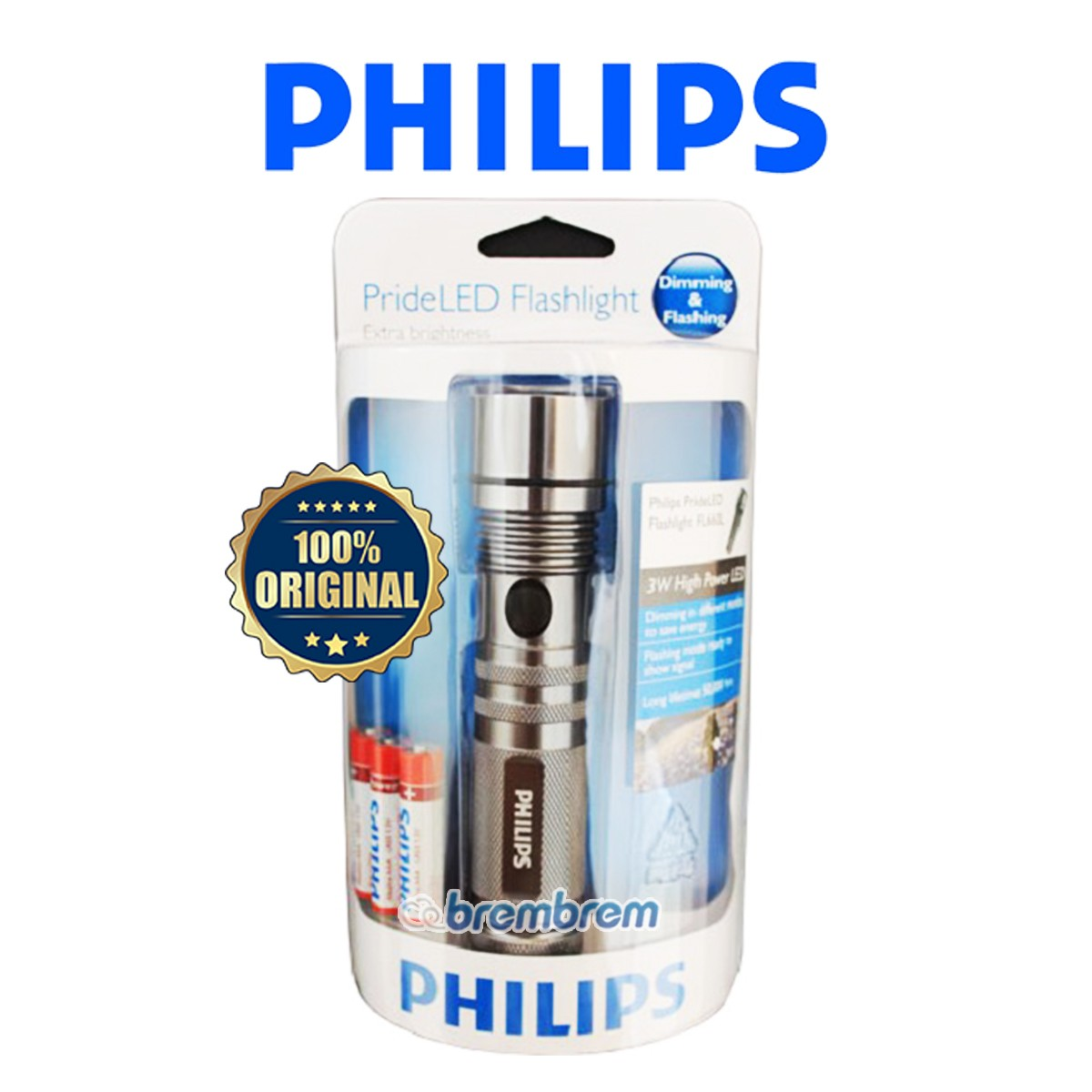 PHILIPS TORCH PRIDELED TITANIUM - LED FLASH LIGHT