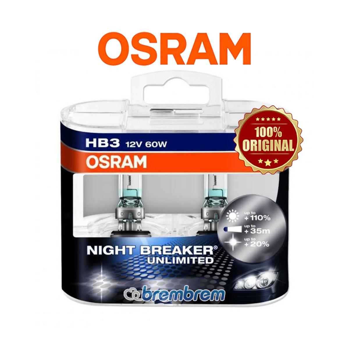 OSRAM NIGHT BREAKER UNLIMITED HB3 - LAMPU HALOGEN