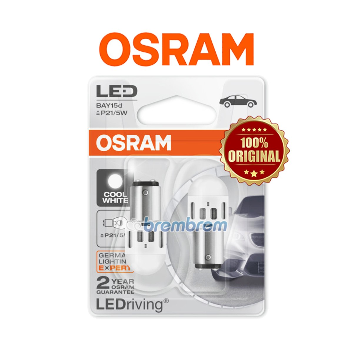OSRAM RETROFIT 1357 COOL WHITE (6000K) - LAMPU REM LED MOBIL