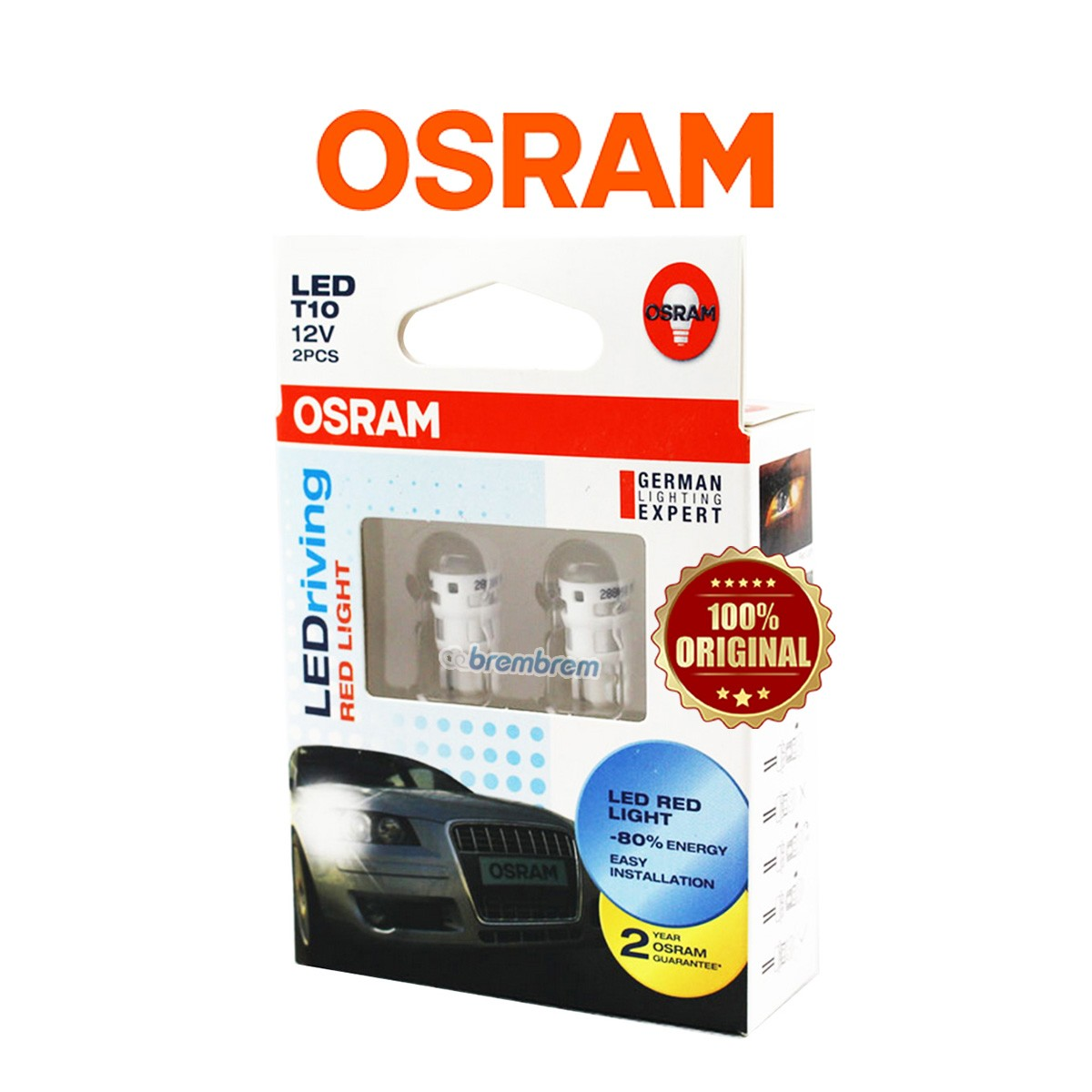 OSRAM RETROFIT T10 2880 RED - LAMPU LED SENJA