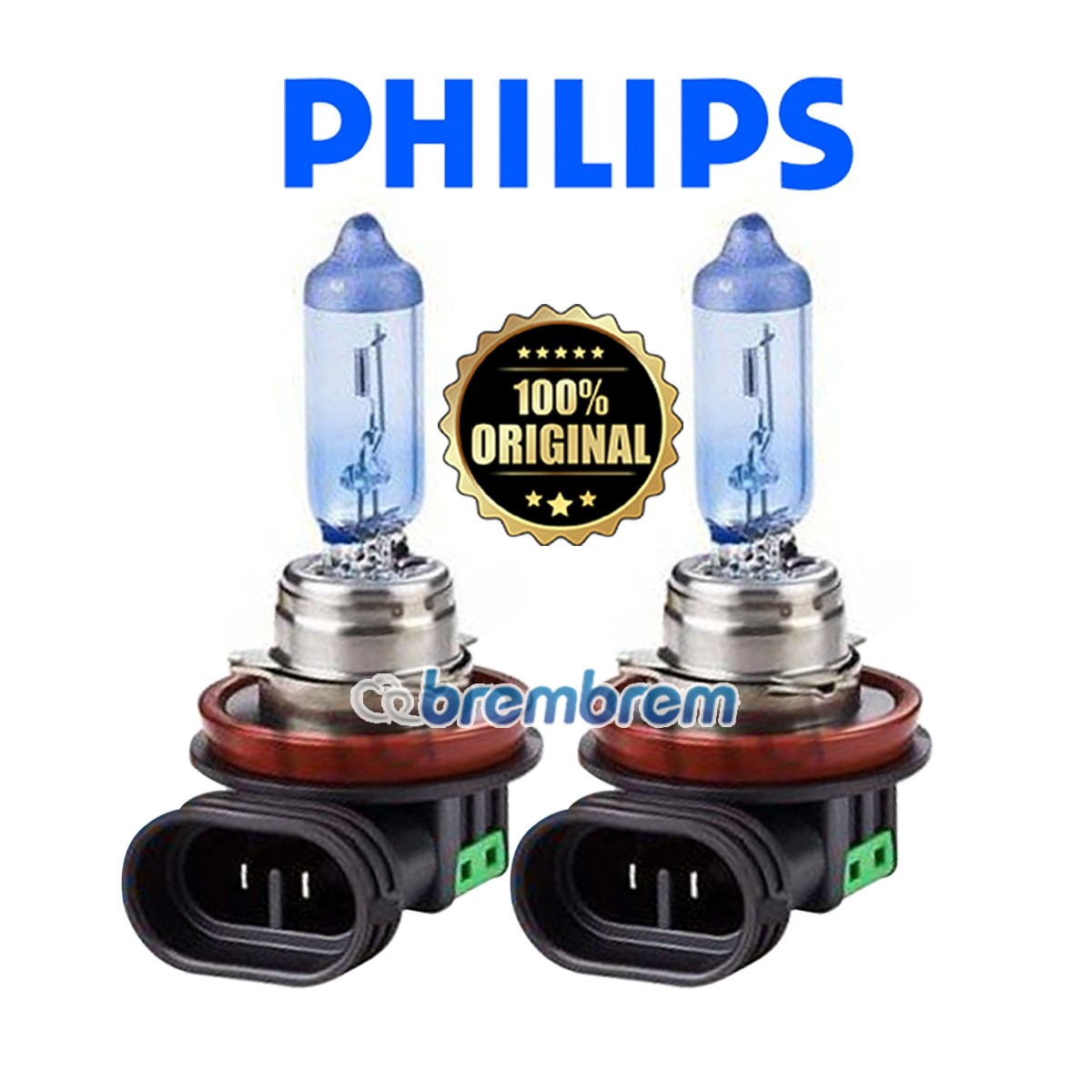 PHILIPS BLUE VISION H11 (4000K) - LAMPU HALOGEN