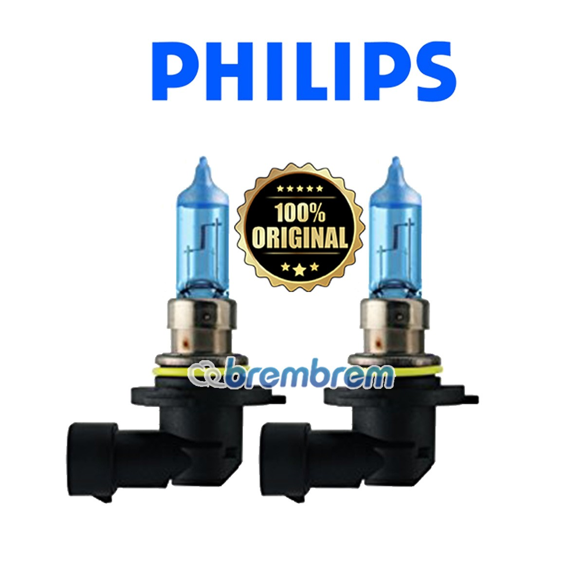PHILIPS BLUE VISION HB4 (4000K) - LAMPU HALOGEN