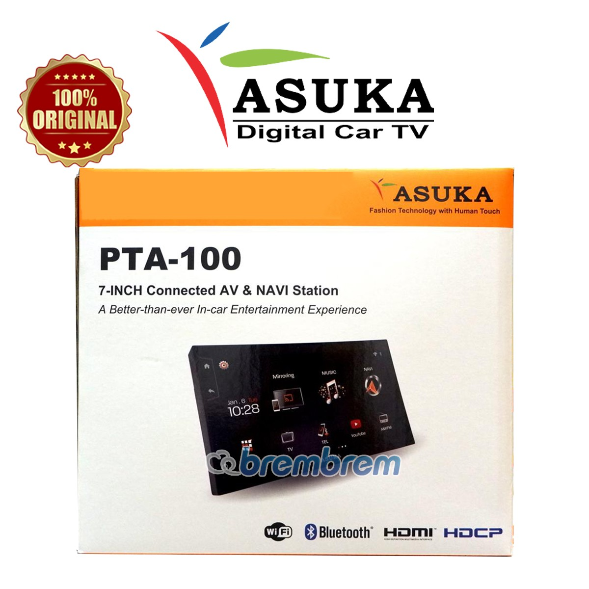 ASUKA PTA 100TV - HEADUNIT DOUBLE DIN