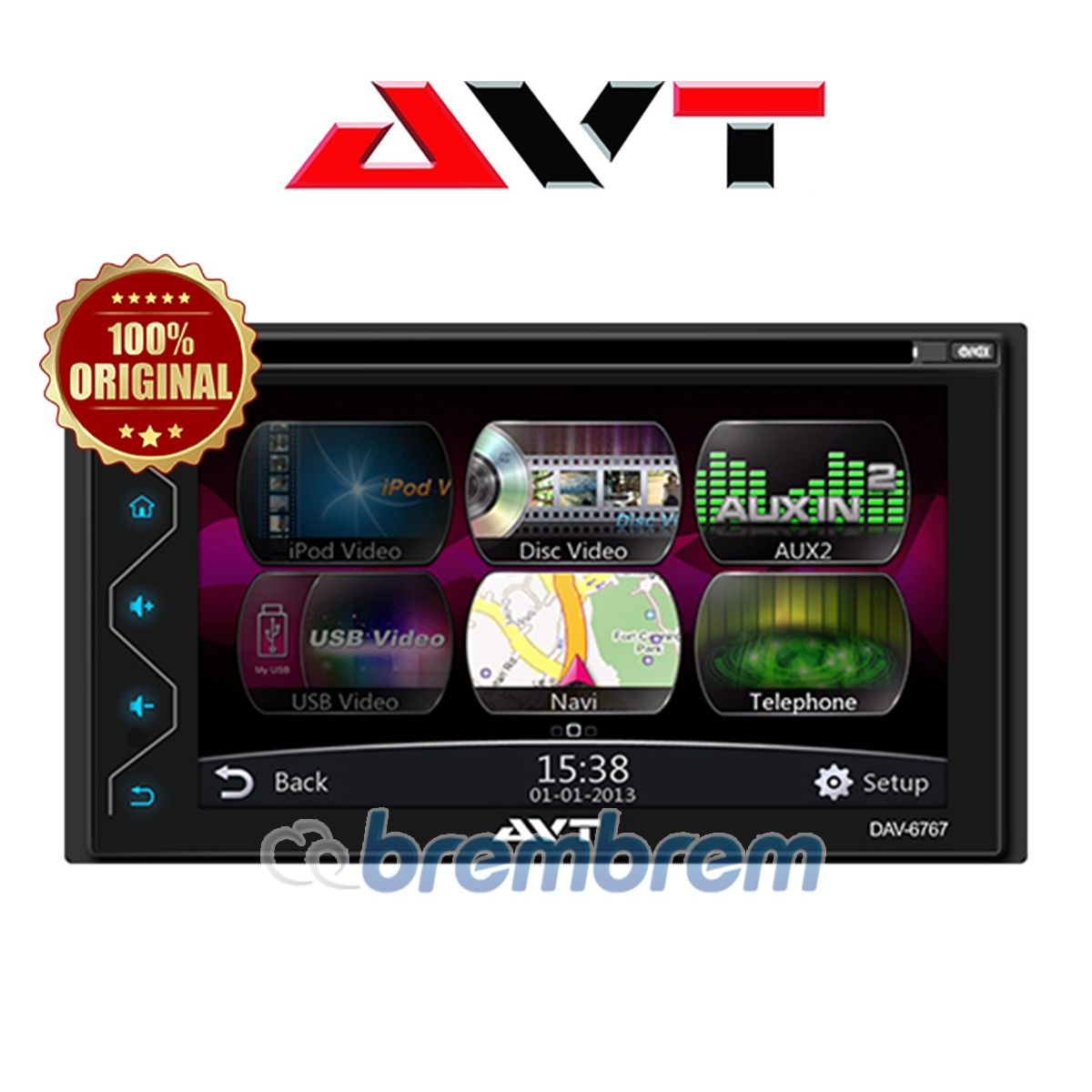 AVT DAV 6767 CAPACITIVE SCREEN - HEADUNIT DOUBLE DIN (PREORDER)