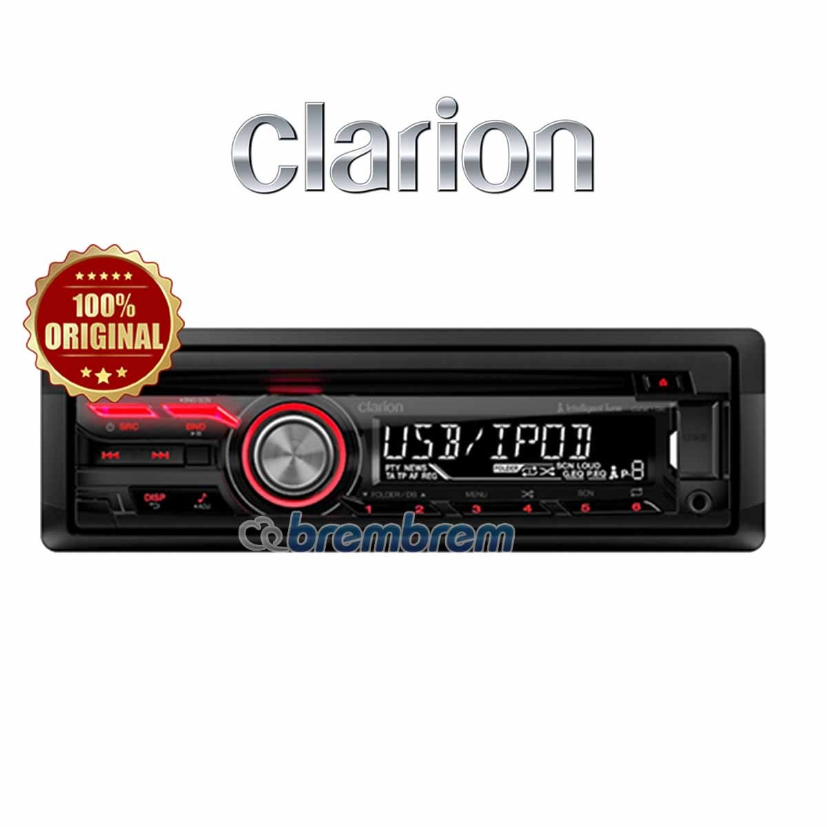 CLARION CZ 215A - HEAD UNIT SINGLE DIN (PREORDER)