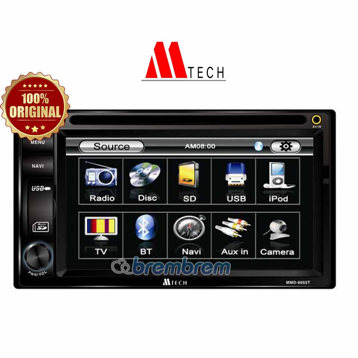 MTECH MM 6655 - HEAD UNIT DOUBLE DIN (PREORDER)