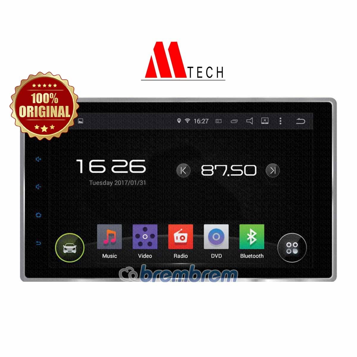 MTECH MM 8803 ANDROID - HEADUNIT DOUBLE DIN (PREORDER)