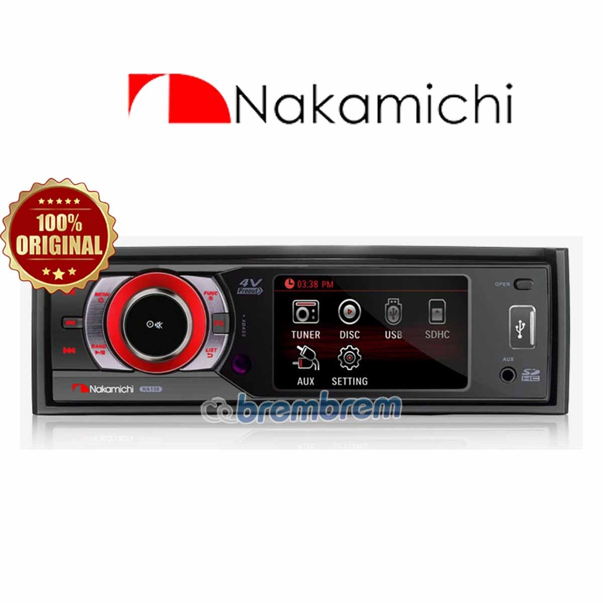 NAKAMICHI NA 135 - HEAD UNIT SINGLE DIN (PREORDER)